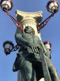 一个雕象在伊尔平市- Kyiv Oblast的中心在乌克兰 免版税库存图片