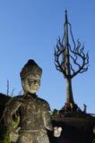 一个雕象在budha公园 库存图片