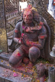 一个雕象在Changu纳拉扬 库存图片