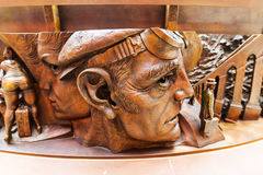 一个雕象的插口在圣Pancras驻地的 免版税图库摄影