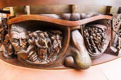 一个雕象的插口在圣Pancras驻地的 图库摄影