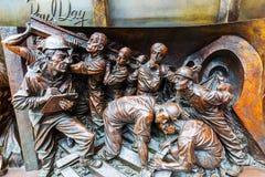 一个雕象的插口在圣Pancras驻地的 库存图片