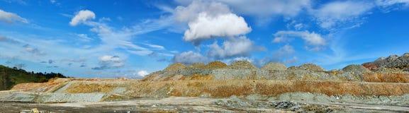 一个露天开采矿最小值的全景 图库摄影