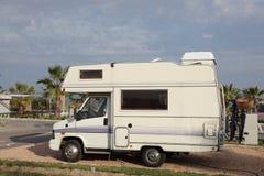 一个露营地的活动房屋 免版税库存图片