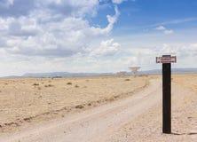 一个非常大列阵场面在新墨西哥 免版税图库摄影