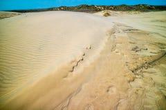 一个非常软的美好的沙滩在南帕德雷岛,得克萨斯 免版税库存照片