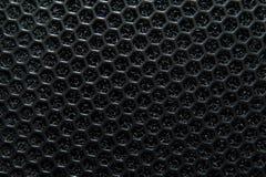 一个音乐专栏的抽象黑宏观纹理 免版税图库摄影