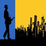 大城市蓝色 免版税库存图片