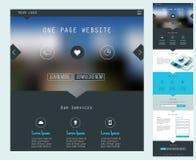 一个页网站设计 免版税库存照片