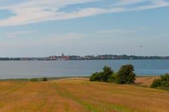 一个领域在丹麦 库存图片