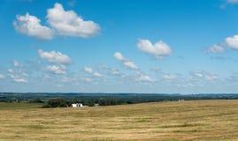 一个领域的看法在伊利诺伊国家边的 免版税图库摄影