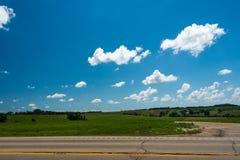 一个领域的看法在伊利诺伊国家边的 免版税库存照片