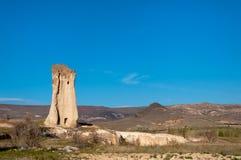 一个风帆的孤立岩石在谷的,卡帕多细亚 图库摄影