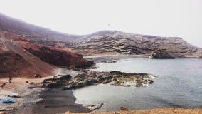 一个风景在兰萨罗特岛 库存图片