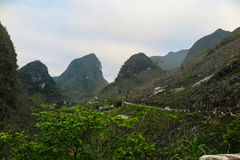 一个风景在河江市,北越南 库存图片