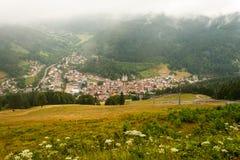 一个风景在费尔德伯格德国黑森林。 免版税库存照片