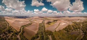 一个风景的鸟瞰图由好天气的在安达卢西亚 库存图片