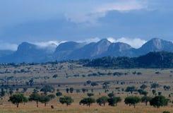 一个风景看法在乌干达。 免版税库存照片