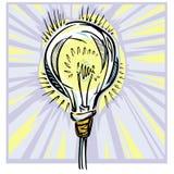 一个风格化电灯电灯泡 免版税库存照片