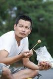 一个食人的丸子 免版税图库摄影
