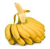 一个香蕉的图象在白色背景的 图库摄影