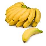 一个香蕉的被隔绝的图象在白色背景的 免版税图库摄影