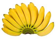 一个香蕉的被隔绝的图象在白色背景的 免版税库存照片