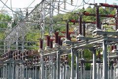 一个高压发电站的切换 免版税图库摄影