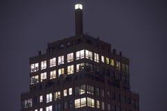 一个高城市大厦的上面 库存图片