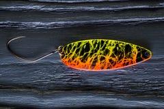 一个鳟鱼诱饵 免版税库存图片