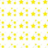 一个黄色传染媒介星的一个无缝的样式 星形模式 例证无缝的向量 减速火箭,葡萄酒背景 向量例证