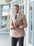 一个黑企业男性 免版税库存照片