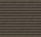 一个黑金属表面上的木粱 顶视图 3d形象化 无缝的纹理 免版税库存照片