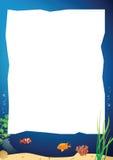 一个水下的风景的传染媒介图象 免版税库存照片