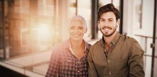 一个年轻人和妇女摆在的画象的综合图象 免版税图库摄影