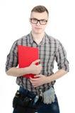 一个年轻人在工作 免版税图库摄影