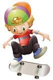 一个年轻人溜冰板运动 库存照片