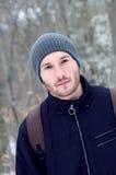 一个年轻人的纵向 免版税图库摄影