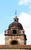 一个巴洛克式的教会的圆顶,细节 库存照片
