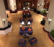 一个经典主题的酒吧的松弛沙发样式 免版税库存图片