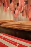一个更加完善的联盟标志交换展览,特性博物馆,萨拉托加斯普林斯,纽约, 2016年 图库摄影