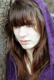 一个年轻哀伤的女孩 库存照片