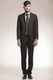 一个年轻商人的充分的身体图片 免版税库存照片