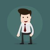 一个年轻商人的动画片例证 库存例证