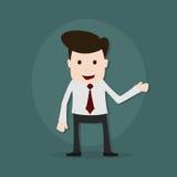 一个年轻商人的动画片例证 向量例证
