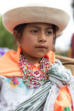 一个年轻土产女孩的特写镜头 免版税库存照片