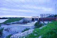 一个水坝在印第安纳 免版税库存照片