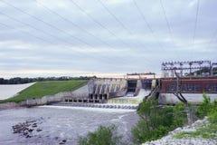 一个水坝在印第安纳 免版税图库摄影