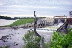 一个水坝在印第安纳 库存图片