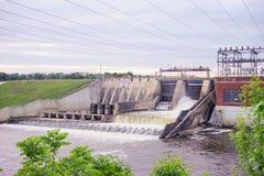 一个水坝在印第安纳 免版税库存图片